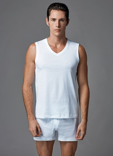 Dagi Kolsuz V Yaka 2'li T-Shirt Beyaz